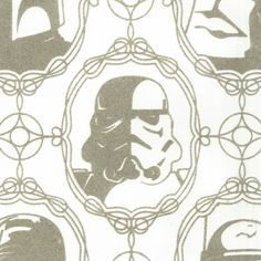 Imperial Forces flocked (that means it's fuzzy!) wallpaper from walnutwallpaper.com ($144/roll)