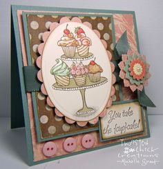 Impression Obsession Rubber Stamps Clear Stamp Set - Cupcakes