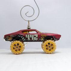 Olds 442 W-30 Monster Jam Car Christmas Ornament by BettyGiftStore