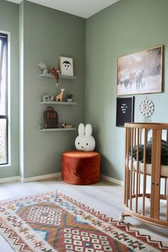 Sage Green Walls, Jotun Lady, New Room, Nordic Interior, Colorful Interiors, Modern Interiors, Decoration, Kids And Parenting, Kids Bedroom