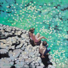 "Saatchi Online Artist: Gordon Hunt; Acrylic, 2013, Painting ""Toe in the water"""