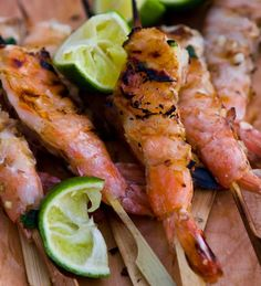Grilled Shrimp with Lemongrass and Ginger ~ http://steamykitchen.com