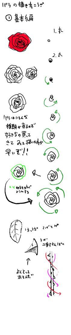 【バラの書き方講座】