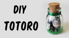 DIY: Como Fazer o Totoro no Potinho (My Neighbor Totoro Bottle Charm Tutorial)