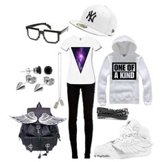Okay I don't care for most of the outfit. But I want the backpack, shoes, and glasses.