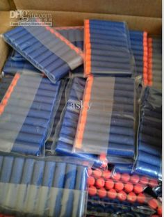Wholesale /Lots Nerf Elite Bullets Series Special Gun toy Rubber Bullets,  Free shipping,. Nerf Birthday Party10th ...