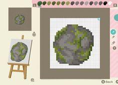 Animal Crossing Designs — i made some natural stone paths! i wanted. Animal Crossing Funny, Animal Crossing Villagers, Path Design, Rock Design, Pixel Art Grid, Pixel Design, Motifs Animal, Pixel Pattern, Pet Rocks