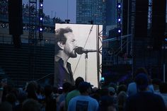 Eddie Vedder on the big screen @ Wrigley Field 7/19/13..... Yes!  I was here!!!