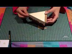 Manualidades Caja en forma de tarta - YouTube