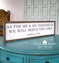 As For Me and My FARMHOUSE Framed Sign We Will SERVE The LORD