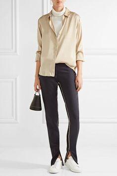 DKNY   Stretch-silk crepe de chine blouse   NET-A-PORTER.COM