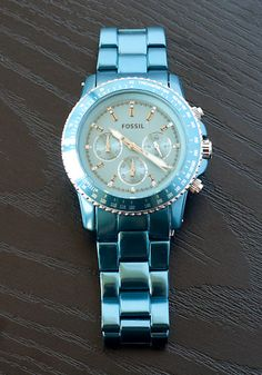 Montre pour femme : Loving this teal Fossil watch Stylish Watches, Luxury Watches, Cool Watches, Bracelet Cuir, Bracelet Watch, Diesel Watches For Men, Bracelet Turquoise, Fossil Watches, Women's Watches