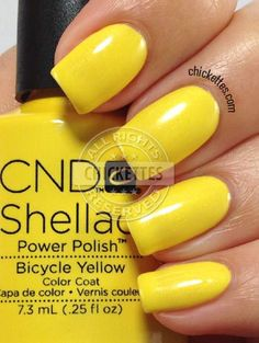 nails.quenalbertini: CND Shellac Paradise Collection Summer 2014 - Bicycle Yellow