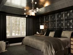 Take your bedroom from average to amorous with the simple addition of an elegant chandelier.