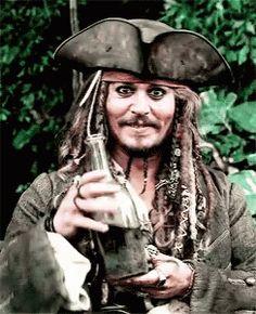 Stunning 💖 Captain Jack Sparrow (Johnny Depp) - Pirates Of The Caribbean Michael J Fox, Captain Jack Sparrow, Tattoo Jack Sparrow, Jack Sparrow Gif, Drinking Gif, On Stranger Tides, Estilo Disney, Here's Johnny, Johny Depp
