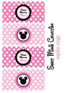 Minnie Mouse - Printable napkin rings
