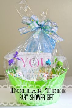 baby shower gift for less than 10 from dollar tree