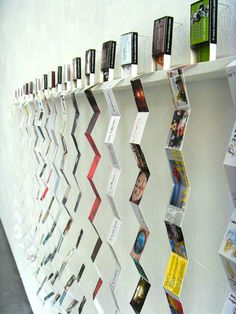 an interesting way to display all the pages of a book to look at or read while taking up a small space