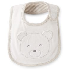 Reversible Bear Teething Bib Carter's ❤ liked on Polyvore featuring kids