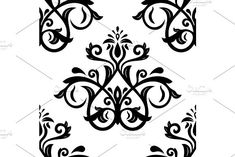 Oriental vector pattern with damask, arabesque and floral elements. Damask Patterns, Arabesque, Vector Pattern, Abstract Backgrounds, Oriental, Organic, Graphic Design, Floral, Art