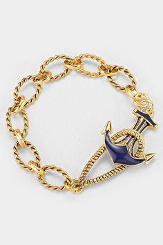 Gorgeous summer bracelet  - Nautical Bracelet in Gold. $38