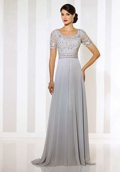 Cameron Blake 116666 Silver Mother Of The Bride Dress