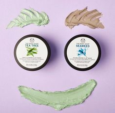 & clarify your skin with our detoxifying masks!Energize & clarify your skin with our detoxifying masks! Body Shop At Home, The Body Shop, Best Beauty Tips, Beauty Hacks, Beauty Skin, Health And Beauty, Body Shop Skincare, Good Beauty Routine, Body Shop Tea Tree