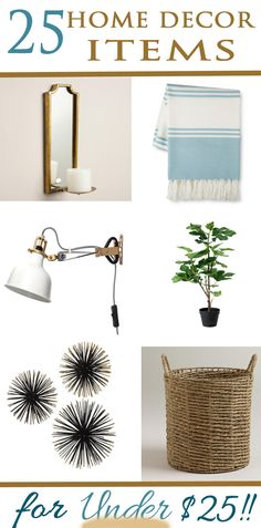 A beautiful home doesn't have be expensive! Get the look for less with these home decor items! www.providenthomedesign.com