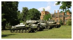 A line of renovated T-70, T-34/85, Soviet Lend-Lease Sherman, and JS-II on display.