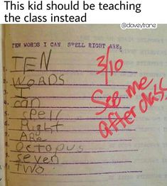 Why did the kid only get 3 correct? He spelled the other ones right and it never said don't use the ones in the directions