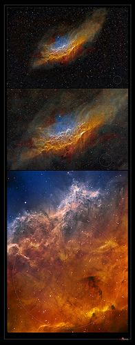 California Nebula, apparent scale in the sky