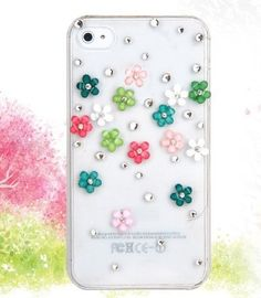 New Bling 3D Colorful Flower Case Cover For Apple iPhone 4 4S Mobile Phone by OEM, http://www.amazon.co.uk/dp/B00DAPNEYQ/ref=cm_sw_r_pi_dp_5Qdbsb16TTDGM