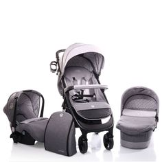 Carucior 3 in 1 Cangaroo Noble Grey - eMAG. Massage Chair, Baby Car Seats, All In One, Baby Strollers, Grey, Baby Prams, Gray, Prams, Strollers