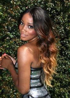 Ombre Hair for African American girls, very pretty!