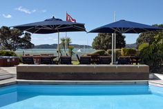 View from the Pool Time Out, New Zealand, Swimming Pools, Spa, Patio, Places, Outdoor Decor, Travel, Swiming Pool
