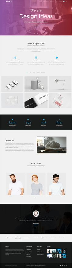 Alpha dot is awesome multipurpose responsive #WordPress theme for creative #agency website with 18+ niche homepage layouts, 75+ pages & 20+ widgets download now..