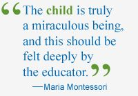 The child is truly a miraculous being, and this should be felt deeply by the educator -- Maria Montessori Montessori Education, Montessori Materials, Maria Montessori Quotes, What Can I Do, Private School, Educational Activities, Education Quotes, Quotations, Free Printables