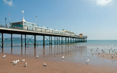 A local barrister financed the building of Paignton Pier in Devon, which opened to the public in June South Devon, Devon Uk, Visit Devon, Devon Coast, Dartmoor National Park, British Seaside, Devon And Cornwall, Island 2, Weird Pictures