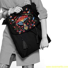 #Swanmarks Liebo New 2012 Embroidery Tassel Satchel