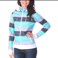 Stripe NorthFace Sweater <3