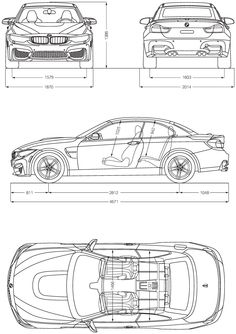BMW M4 blueprint