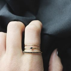 black diamond ring bands