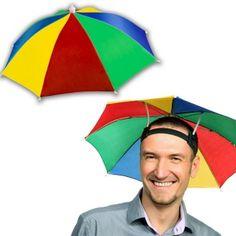 Windy City Novelties Rainbow Umbrella Hat for Adults and Kids. Make Up Tutorials, Funny Umbrella, Rain Umbrella, Peter And The Starcatcher, Colorful Umbrellas, Sun Protection Hat, Beach Bbq, Rain Hat, Rain Clouds