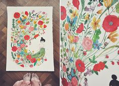 sew me flowers by oanabefort on Flickr.