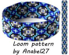 patterns beaded loom bracelet blue ile ilgili görsel sonucu