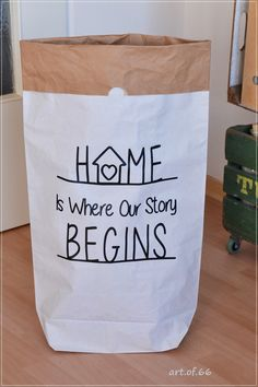 Paperbag - Home is where our story begins