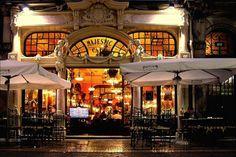 Café Majestic Address: Rua Santa Catarina Oporto, Portugal in Portugal. Spain And Portugal, Portugal Travel, Spain Travel, Portugal Trip, Visit Portugal, Algarve, Budapest Cafe, Places Around The World, Around The Worlds