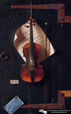 """beautiful. i wish i knew how to play the violin.    """"The Old Violin  William Michael Harnett - 1886"""""""