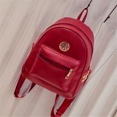 Fashion Woman Backpack Preppy Style Colorful Girls Backpacks Young Women Leather Backpacks ZXL-57