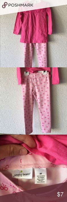 Girl's Pink LongSleeve Shirt and Pant Outfit Size 3T - Only worn once Jumping Beans Matching Sets